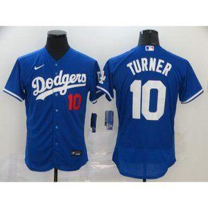 LA Dodgers Justin Turner Blue Elite Jersey